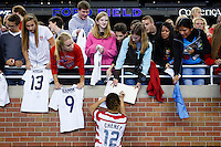 U.S. Women's National Team vs. China - Fan Tribute Tour international friendly soccer game at Ford Field in Detroit, Sunday, Dec. 2, 2012.