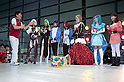 """June 2, 2012, Tokyo, Japan - Women dress as a anime character at the cosplay contest.  The Anime and Cosplay exhibition """"Moe Culture Festival 2012"""" from June 2nd to 3rd at Otaku Sangyou Plaza Pio.."""