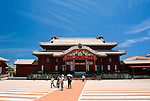 Photo shows the main Seiden hall inside the grounds of Shuri-jo Castle in Naha, Okinawa Prefecture, Japan, on May 28, 2012. Seiden functioned as the central structure of the Ryukyu kingdom for over 500 years and was restored in 1992.