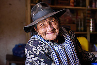 Augustina Lamagril, a highly respected curandera or traditional healer in the Bolivian village of Chaunaca, in the Cordillera de los Frailes. She is 98 years old.
