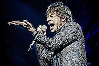 Photo Illustration of Mick Jagger of The Rolling Stones Perform at The Forum