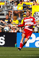 28 AUGUST 2010:  FC Dallas' Brek Shea (20) during MLS soccer game between FC Dallas vs Columbus Crew at Crew Stadium in Columbus, Ohio on August 28, 2010.