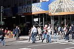 street scene on 5th avenue in New york City in October 2008