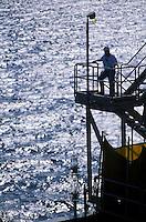 worker on offshore petrolium production platform