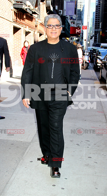 April 03, 2012: Deepak Chopra at the Late Show with David Letterman in New York City. Credit: RW/MediaPunch Inc.