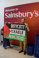"02.08.2014 - Protest at Whitechapel's Sainsbury: ""Stop selling Israeli Goods"""
