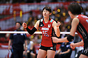 Maiko Kano (JPN),.MAY 23, 2012 - Volleyball : FIVB the Women's World Olympic Qualification Tournament for the London Olympics 2012, between Japan 1-3 Korea at Tokyo Metropolitan Gymnasium, Tokyo, Japan. (Photo by Jun Tsukida/AFLO SPORT) [0003].