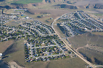 Aerial view of Fancher Heights, suburb or East Wenatchee in Douglas County.