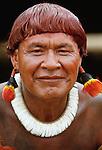 Kuikaro Indian, Upper Xingu River, Mataogrosso, Brazil