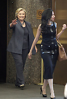 NEW YORK, NY-September 16:Hillary Clinton, Huma Abedin at the Tonight Show starring Jimmy Fallon in New York. September 16, 2016. Credit:RW/MediaPunch