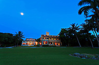 Pre-dawn view of the Charles Deering Estate at Cutler, Miami, Florida.