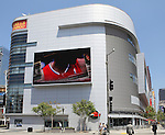 LOS ANGELES, CALIFORNIA, USA - April 22, 2013 - The L.A. Live complex in Downtown Los Angeles on April 22, 2013. The ESPN Zone has a 12,300 SF broadcasting studio and restaurant.