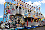 Lucky Lizzy amusement boat on the midway at Cheshire Fair in Swanzey, New Hampshire USA