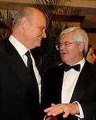 Washington, D.C. - April 21, 2007 -- Former United States Senator Fred Dalton Thompson (Republican of Tennessee), left, and former Speaker of the House Newt Gingrich (Republican of Georgia), right, share some thoughts as they attend one of the parties prior to the 2007 White House Correspondents Association dinner at the Washington Hilton in Washington, D.C. on Saturday evening, April 21, 2007..Credit: Ron Sachs / CNP                                                              (NOTE: NO NEW YORK OR NEW JERSEY NEWSPAPERS OR ANY NEWSPAPER WITHIN A 75 MILE RADIUS OF NEW YORK CITY)