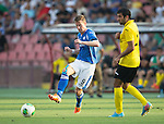 Alashkert FC v St Johnstone...02.07.15   Republican Stadium, Yerevan, Armenia....UEFA Europa League Qualifier.<br /> Steven MacLean and Norayr Gyozalyan<br /> Picture by Graeme Hart.<br /> Copyright Perthshire Picture Agency<br /> Tel: 01738 623350  Mobile: 07990 594431