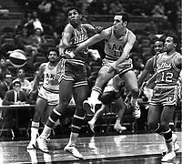 Oakland Oaks against Dallas, #11 Larry Brown ..<br />(1968 photo/Ron Riesterer)