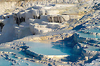 Photo  of Pamukkale Travetine Terrace, Turkey. Images of the white Calcium carbonate rock formations. Buy as stock photos or as photo art prints. 9