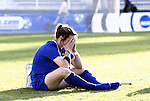 05 December 2004: UCLA's Kim Devine cries after the loss. Notre Dame defeated UCLA 4-3 on penalty kicks after the game ended in a 1-1 overtime tie at SAS Stadium in Cary, NC in the championship match in the 2004 NCAA Division I Women's College Cup...