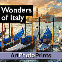 Wonders of Italy  Photo Art Wall Prints