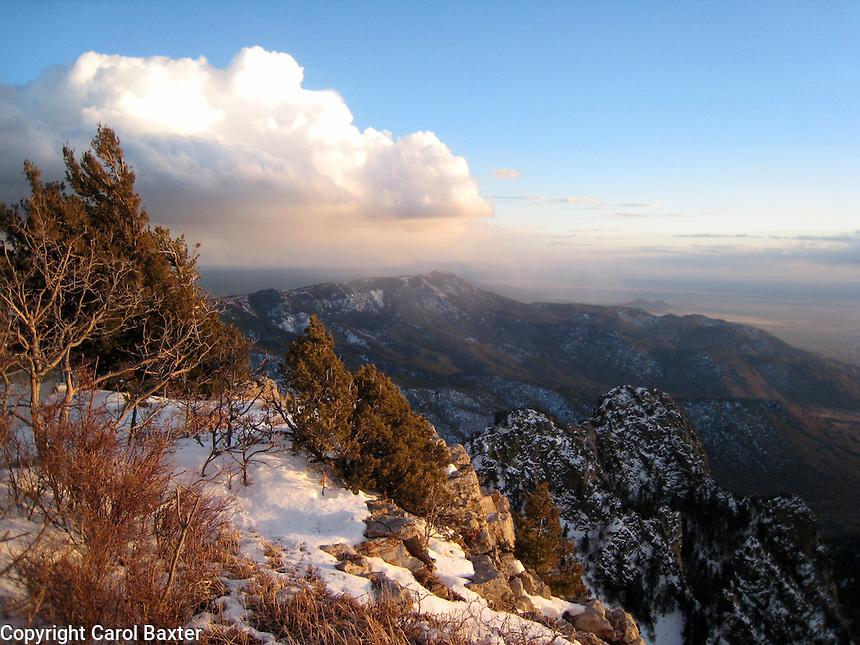 Sandia Mountains Snow The Sandia Mountain Crest
