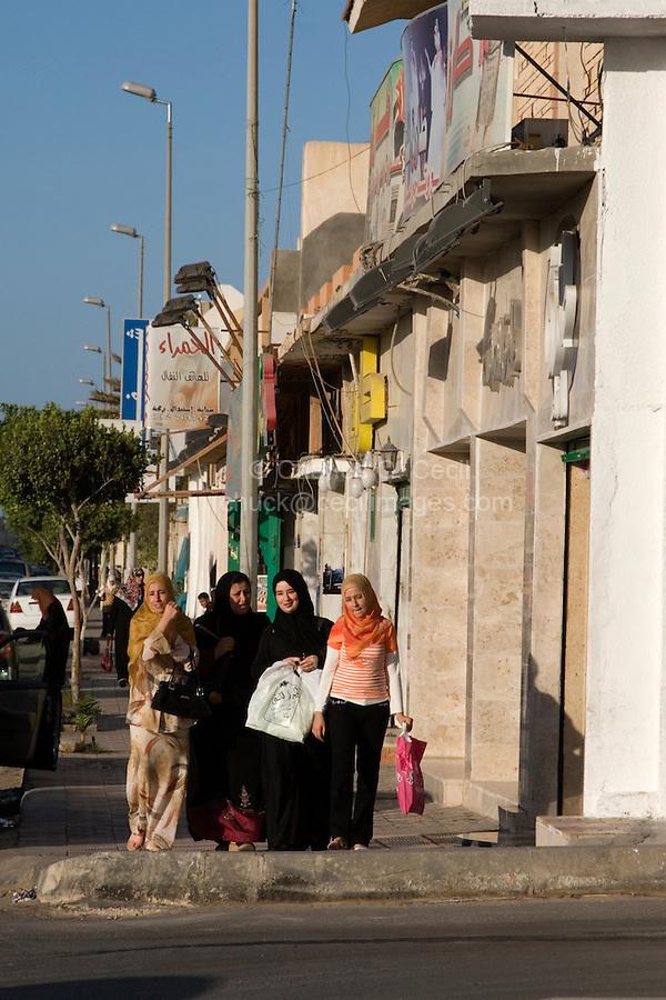 Tripoli, Libya - Street Scene, Women Shopping, Gargaresh District