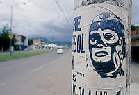 poster advertising a lucha libre event in te outskirts of Mexico City.  June, 20004