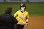 CHAPEL HILL, NC - FEBRUARY 24: Towson's Bailey Boyd rounds third base after hitting a home run. The Hampton University Pirates played the Towson University Tigers on February, 24, 2017, at Anderson Softball Stadium in Chapel Hill, NC in a Division I College Softball match. Towson won 17-2 in a five inning run-rule game.