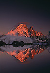 Les Drus reflected in Lac Blanc, France