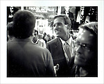 Virginia Governor Mark Warner on the floor of the DNC. Polaroid Portraiture and Reportage from the 2008 Political Conventions