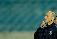 Head Coach Bob Bradley. Slovakia defeated the US Men's National Team 1-0 at the Tehelne Pole in Bratislava, Slovakia on November 14th, 2009.