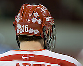 Pete MacArthur (BU - 16) - The Boston University Terriers defeated the University of Maine Black Bears 1-0 (OT) on Saturday, February 16, 2008 at Agganis Arena in Boston, Massachusetts.