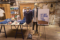 An Urban Outfitters retail store in Herald Square in New York on Monday, May 18, 2015. The retailer, which also includes the Free People and Anthropologie brands, reported earnings below expectations despite posting record first-quarter sales of $739 million.  (© Richard B. Levine)