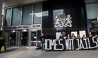 "28.03.2014 - ""Homes Not Jails"" - Demo at Westminster Town Hall"