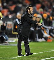 D.C. United Head Coach Ben Olsen. D.C. United tied The Houston Dynamo 1-1 but lost in the overall score 4-2 in the second leg of the Eastern Conference Championship at RFK Stadium, Sunday November 18, 2012.