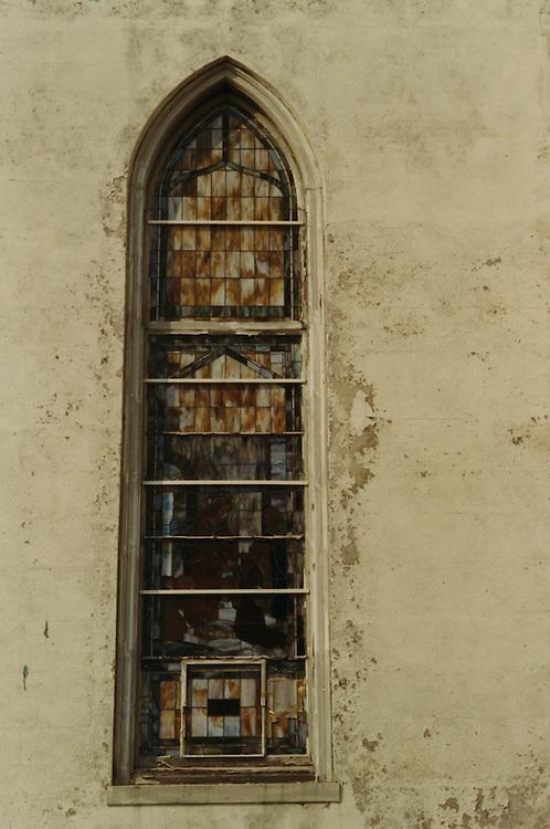 1966 June..Conservation.Downtown North (R-8)..Bank Street Baptist Church.501 Bank Street.Views of Stained Glass Windows..5. Closeup of Window C...NEG#.NRHA#..