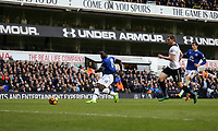 Everton's Romelu Lukaku scores his sides first goal  <br /> <br /> Photographer Rob Newell/CameraSport<br /> <br /> The Premier League - Tottenham Hotspur v Everton - Sunday March 5th 2017 - White Hart Lane - London<br /> <br /> World Copyright &copy; 2017 CameraSport. All rights reserved. 43 Linden Ave. Countesthorpe. Leicester. England. LE8 5PG - Tel: +44 (0) 116 277 4147 - admin@camerasport.com - www.camerasport.com
