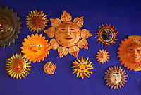 Traditional ceramic sols and eclipsos from various parts of Mexico