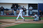 Ole Miss' Alex Yarbrough (2) bats vs. Arkansas State in baseball action at Oxford-University Stadium in Oxford, Miss. on Tuesday, February 21, 2012. Ole Miss won the home opener 8-1 to improve to 2-1 on the season. Arkansas State dropped to 0-3.