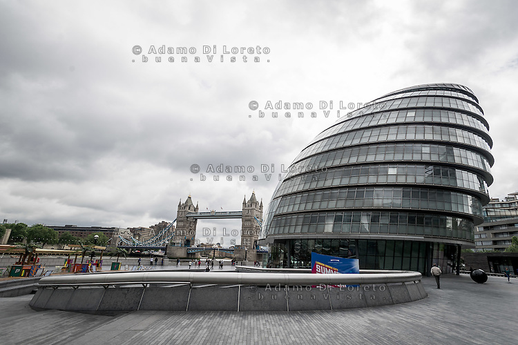 The view of City Hall in London City before the Brexit Referendum, on june, 2016. Photo: Adamo Di Loreto/buenaVista*photo