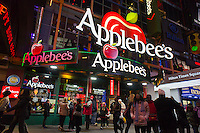 A Times Square branch of the Applebees restaurant chain on Thursday, December 29, 2011. Between the weak economy and an over supply of restaurants many casual dining chains have seen their profits dwindle.  (© Richard B. Levine)