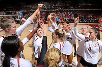 STANFORD, CA - October 7, 2016: Stanford Women's Volleyball over Colorado, 3-1 at Maples Pavilion.