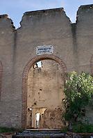 Ruined building at  the 19th century Mina Santa Brigida mine, Mineral de Pozos, Guanajuato, Mexico