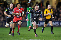 David Wilson of Bath Rugby chases after the ball. European Rugby Champions Cup match, between Bath Rugby and RC Toulon on January 23, 2016 at the Recreation Ground in Bath, England. Photo by: Patrick Khachfe / Onside Images