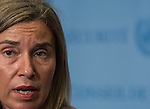 Press Encounter  by Ms. Federica Mogherini, European Union High Representative for Foreign Affairs a