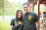Watertown, CT- 18 May 2017-051817CM24-  Holy Cross seniors, Hayley Cuttitta and Jonathan Barney smile for a photo during the annual Greater Waterbury Campership Fund picnic at Camp Mataucha in Watertown on Thursday. The fundraiser featured a myriad of pizza options, music from the Holy Cross students  with proceeds allowing children to go to summer camp.    Christopher Massa Republican-American