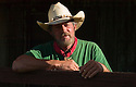 Kalele Morgan, Mule Skinner and Molokai Mule Ride trail guide for tour to Kalaupapa National Historic Park; Molokai, Hawaii.