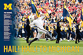 The first of The Victors series prints featuring the Michigan Marching Band and Drum Major David Hines, Jr.