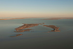 Aerial - The flooded Lake Eyre with Dalhunty Island still exposed