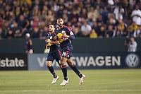New York Red Bulls forward Thierry Henry (14) gives the thumbs up to his bench after scoring a goal. The LA Galaxy and Red Bulls of New York played to a 1-1 tie at Home Depot Center stadium in Carson, California on  May 7, 2011....
