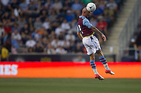 Stephen Ireland of Aston Villa during a match between Aston Villa FC and Philadelphia Union at PPL Park in Chester, Pennsylvania, USA on Wednesday July 18, 2012. (photo - Mat Boyle)